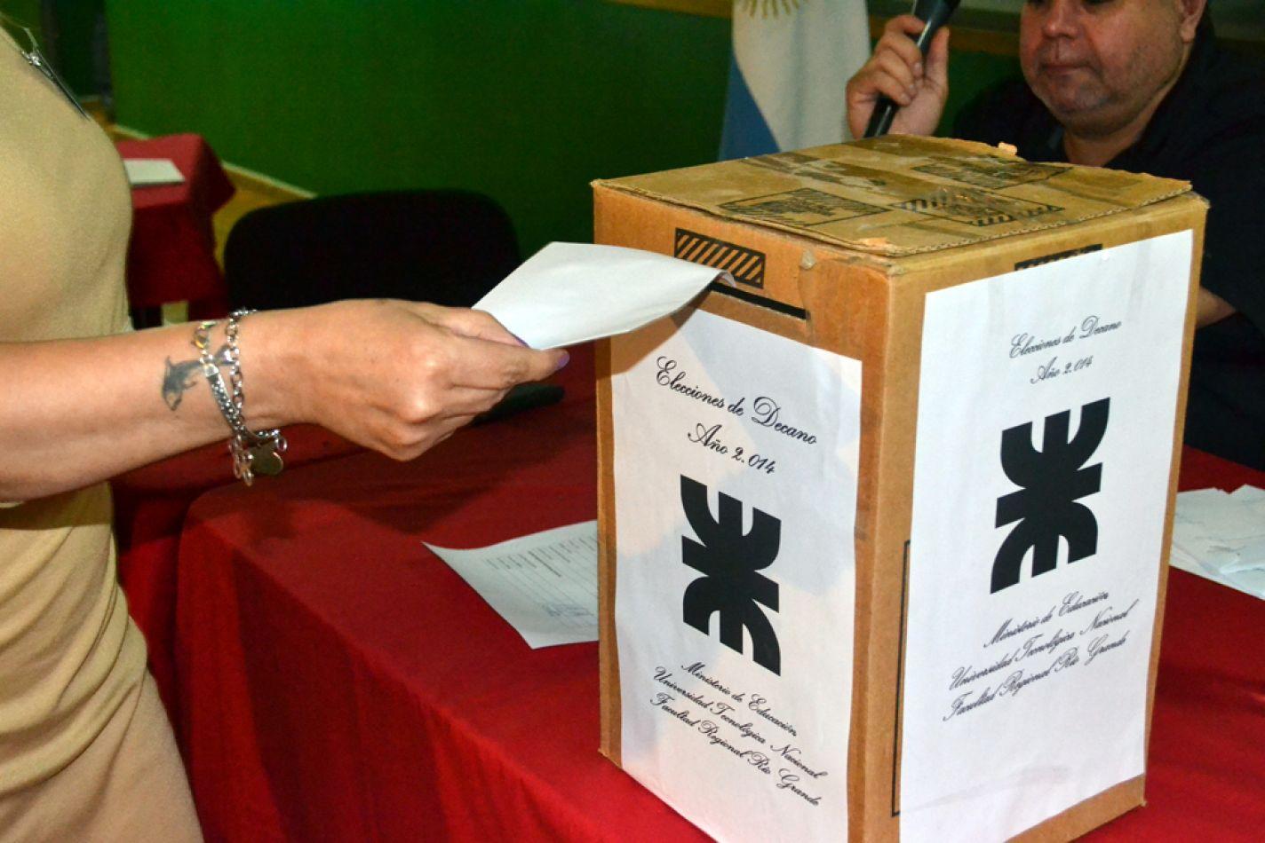 La UTN elegirá Decano y Vicedecano