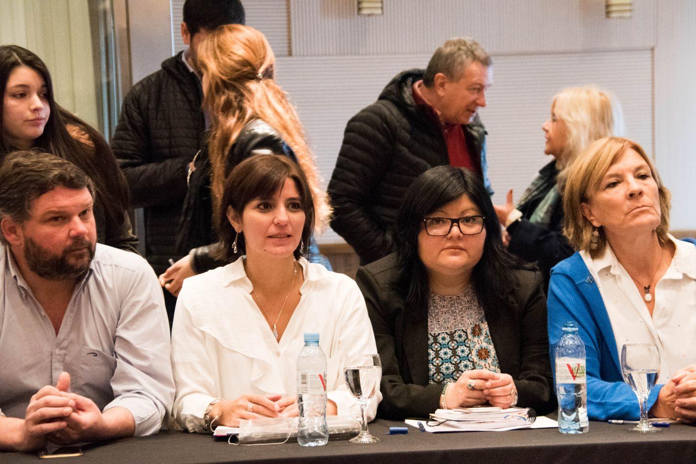 Legisladoras Carrasco y Gómez, en Bariloche.