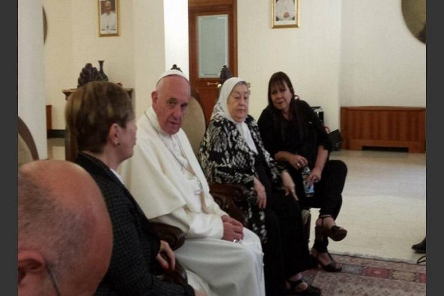El Papa saludó a las Madres de Plaza de Mayo por su 41° aniversario