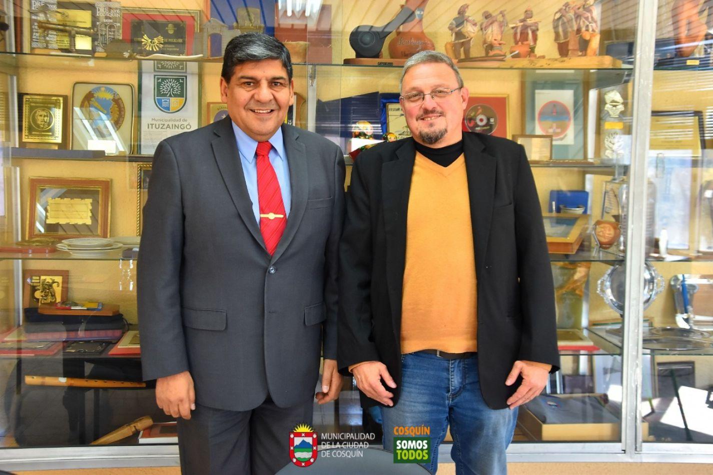 Intendente de Cosquín, Gabriel Musso y el  vicegobernador Juan Carlos Arcando.
