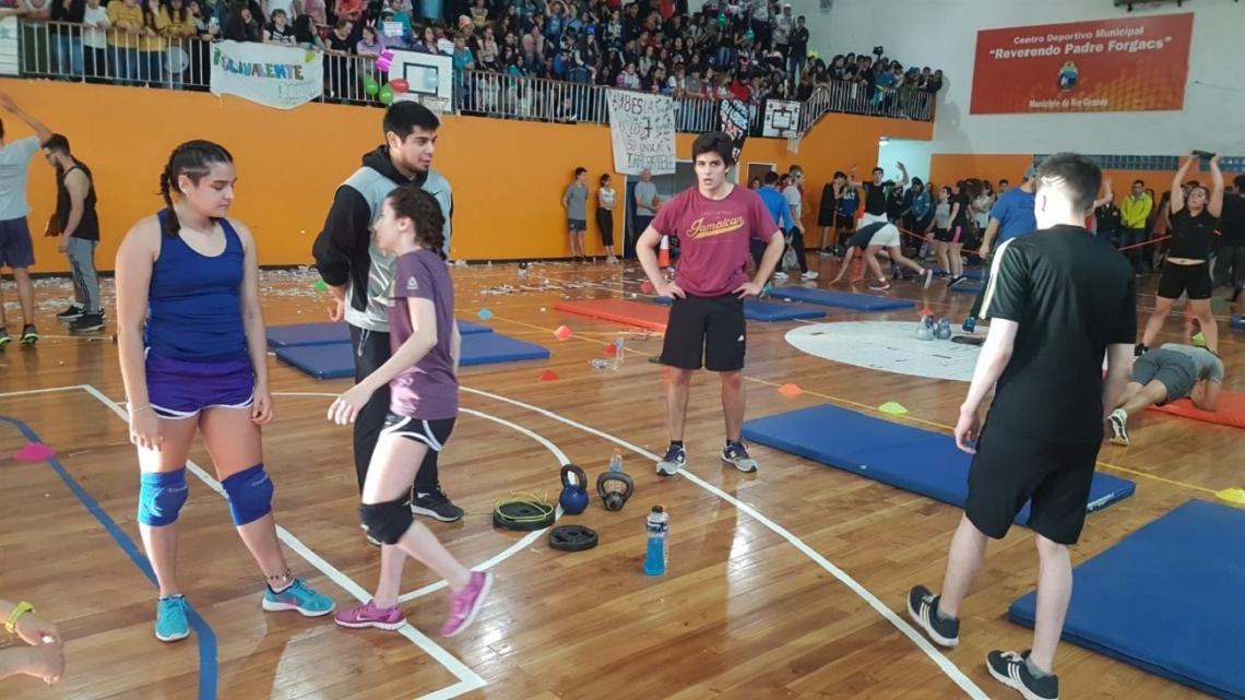 Olimpíadas Estudiantiles: Se realizó Los Crossfit Games en el Centro Deportivo