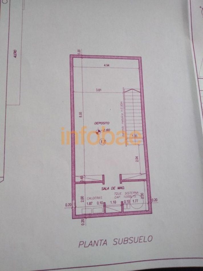 Baratta construyó un sótano de más de 60 metros cuadrados debajo de su casa