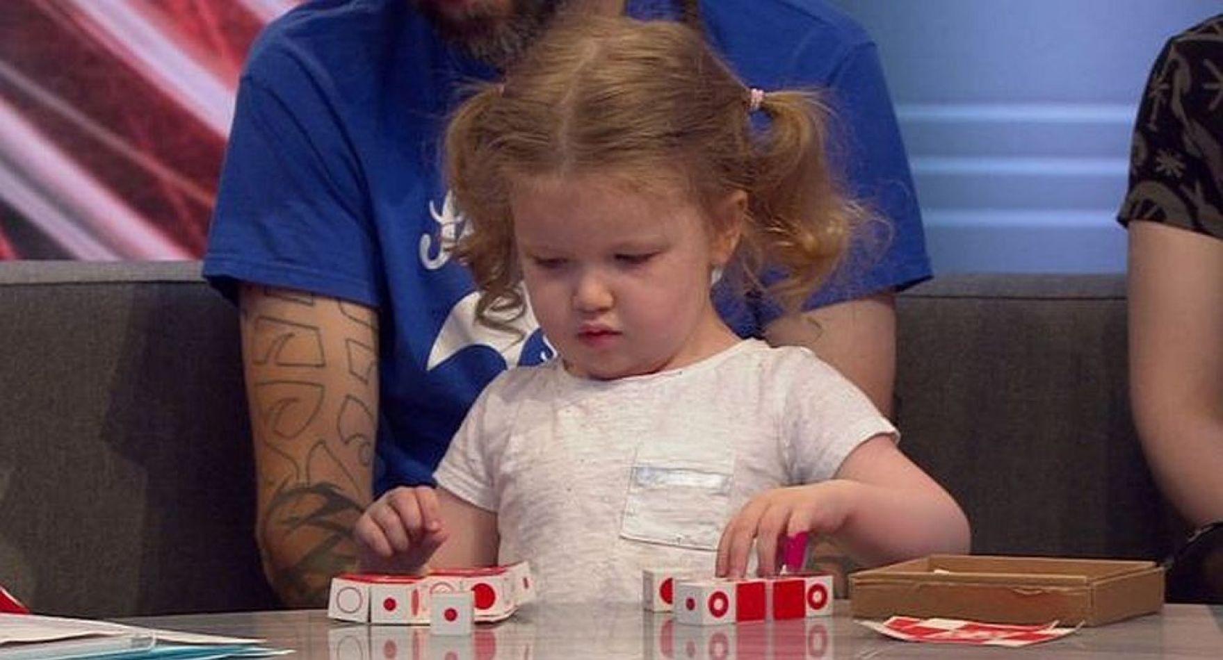 La pequeña Ophelia Morgan-Dew , de solo 3 años