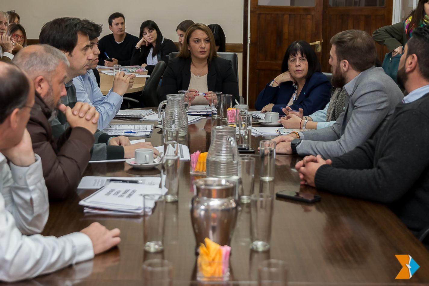 El encuentro, fue presidido por la legisladora Andrea Freites