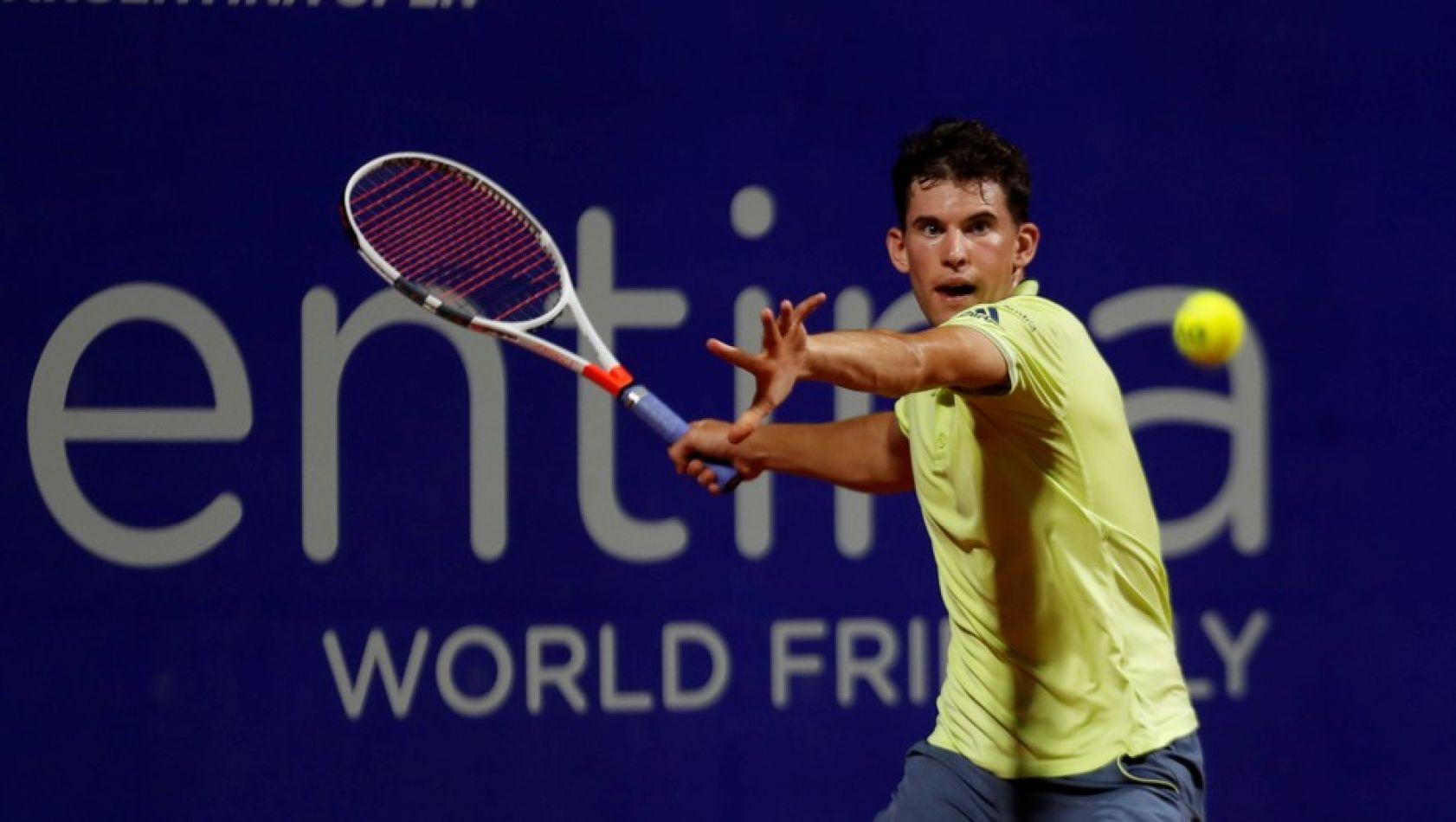 Dominic Thiem, durante el reciente Argentina Open.