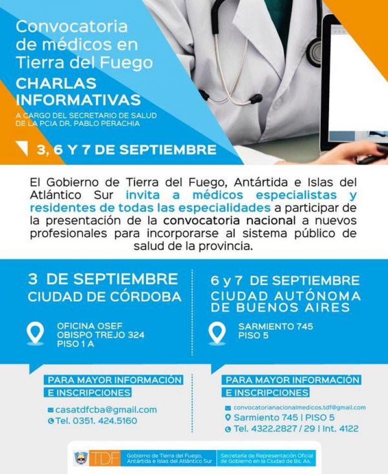 Convocatoria de médicos en Tierra del Fuego