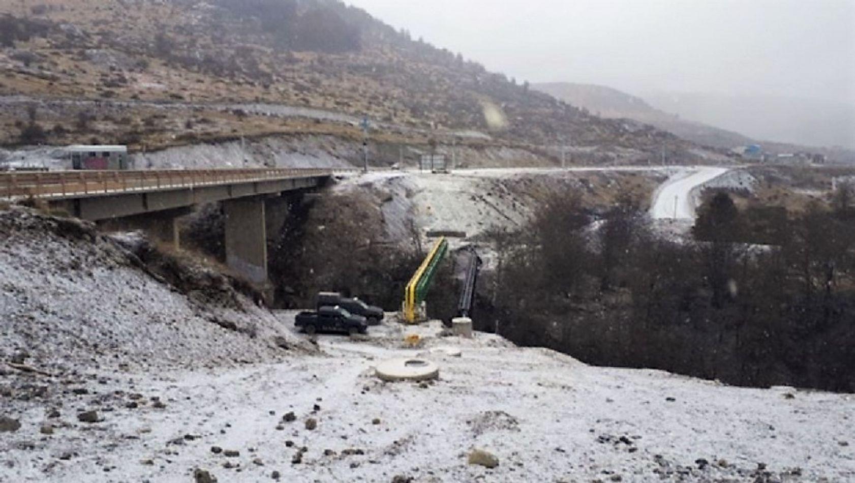 El puente sobre el Arroyo Grande. Debajo fue encontrado el cuerpo de Iryna.