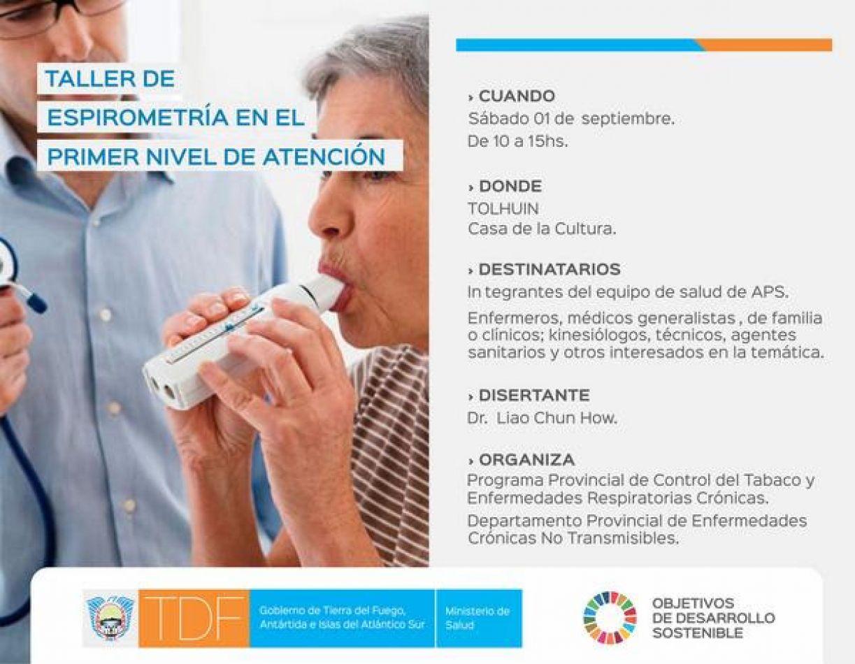 El Ministerio de Salud realizará un taller sobre técnica de realización e interpretación de Espirometría