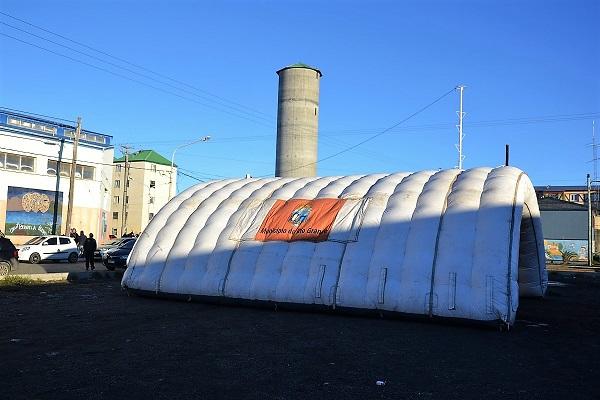La carpa intinerante del Observatorio Malvinas se instaló en Chacra II