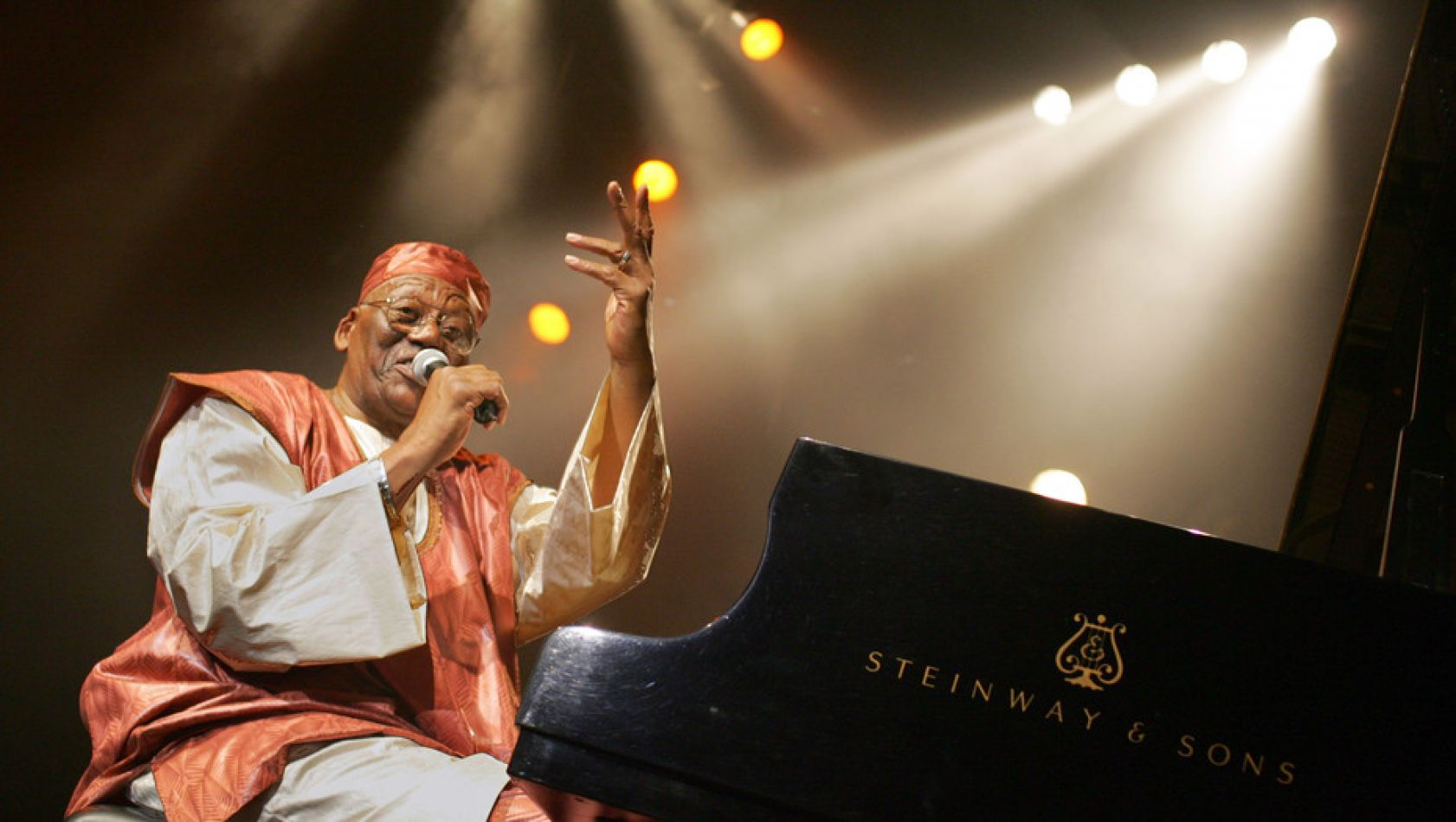 Randy Weston durante una de sus actuaciones en el Festival de Jazz de Marciac, en el sur de Francia, en agosto de 2005.