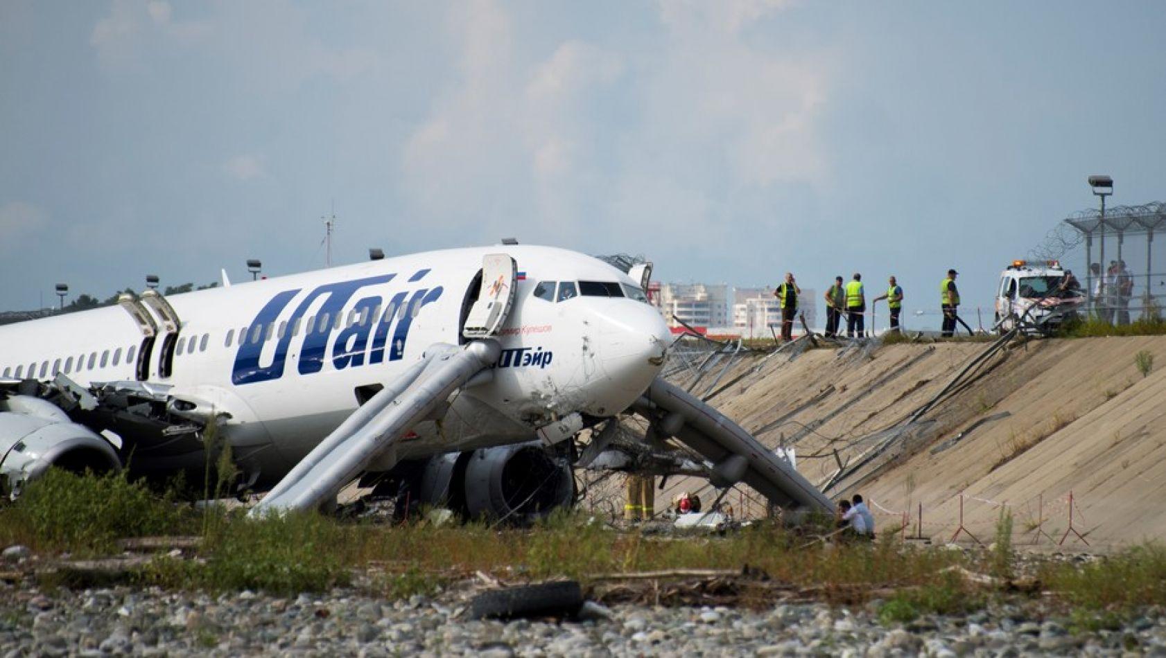 El avión que se despitó en Sochi.