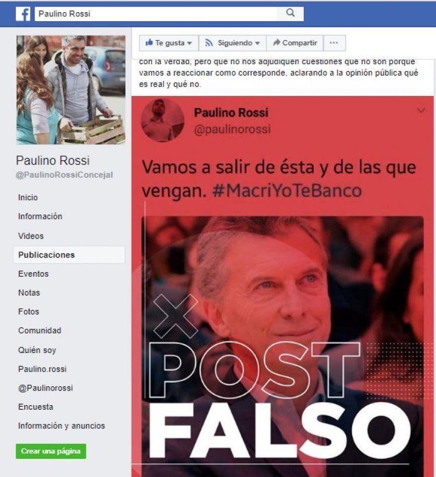 Paulino Rossi acusó a La Cámpora de mentir