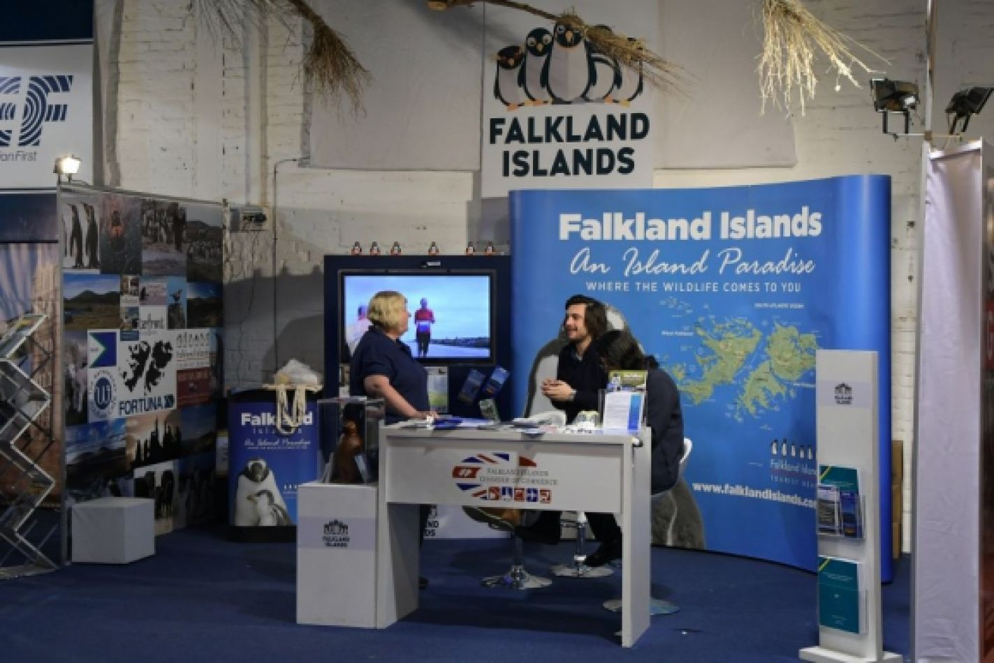 Malvinas dentro del Pabellón Británico de la Expor Prado en Uruguay