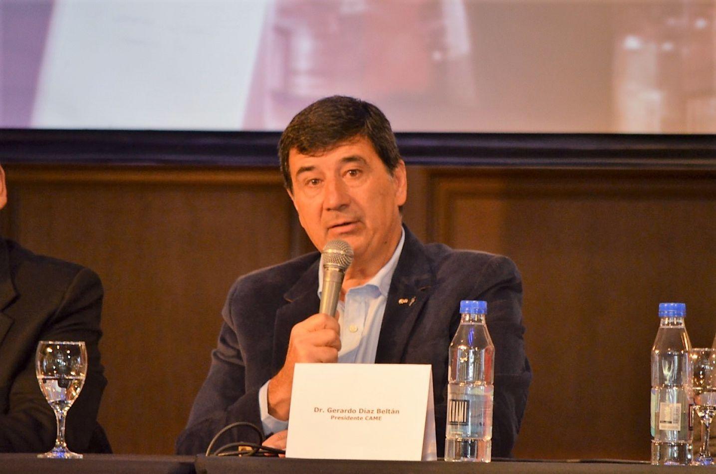 Gerardo Díaz Beltrán, presidente de la CAME,