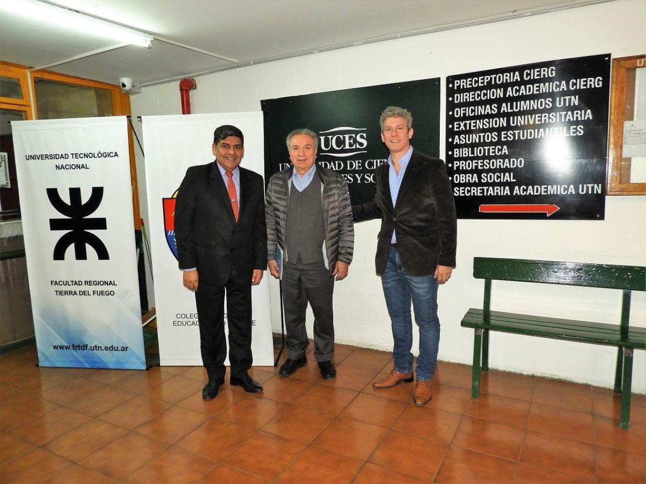 Arcando visitó a estudiantes de abogacía de la UCES