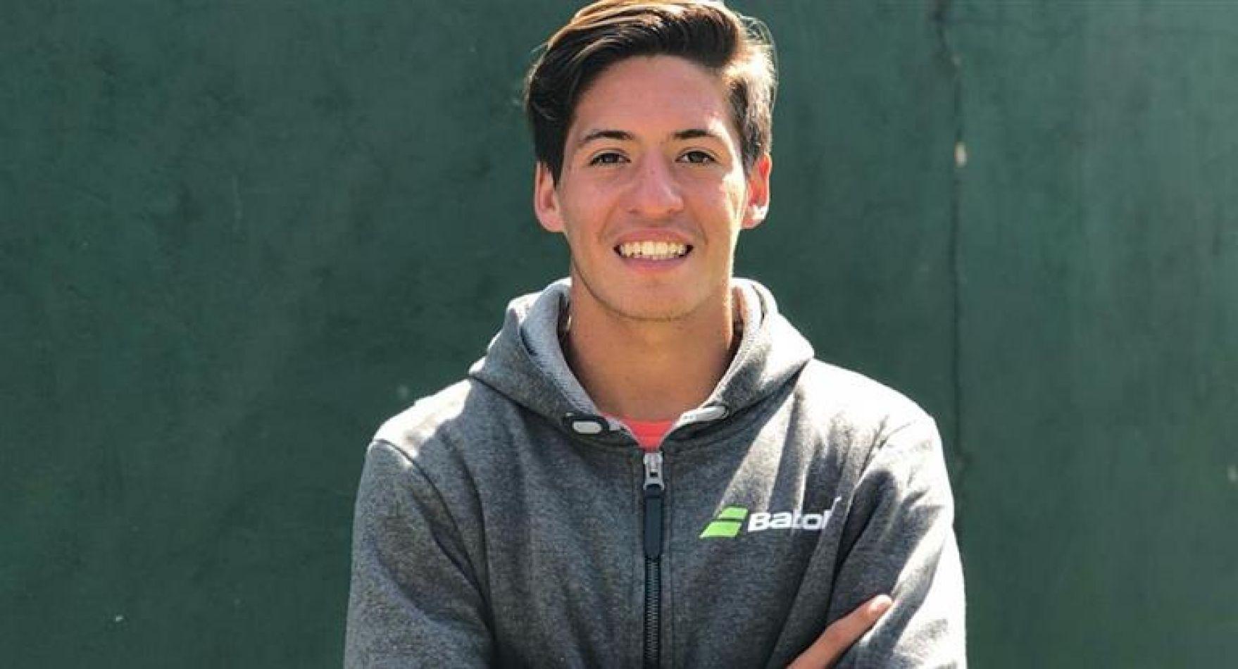 Báez será el 2° preclasificado en los Juegos de la Juventud, máximo representante del tenis argentino