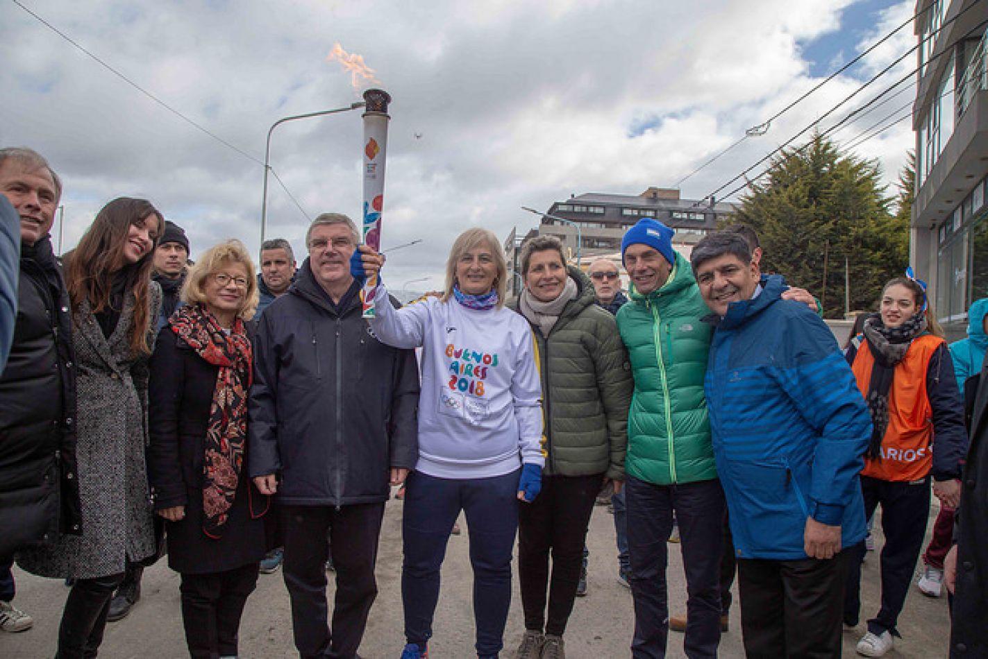 La Antorcha Olímpica de los Juegos de la Juventud Buenos Aires 2018 llegó a Ushuaia