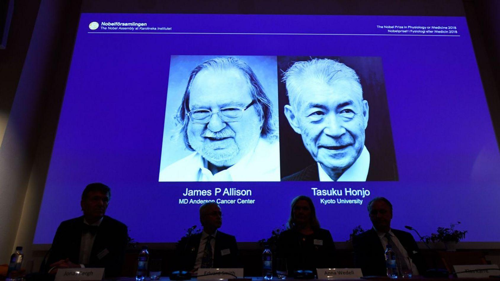 Nobel de Medicina para Allison y Honjo por sus estudios sobre el cáncer