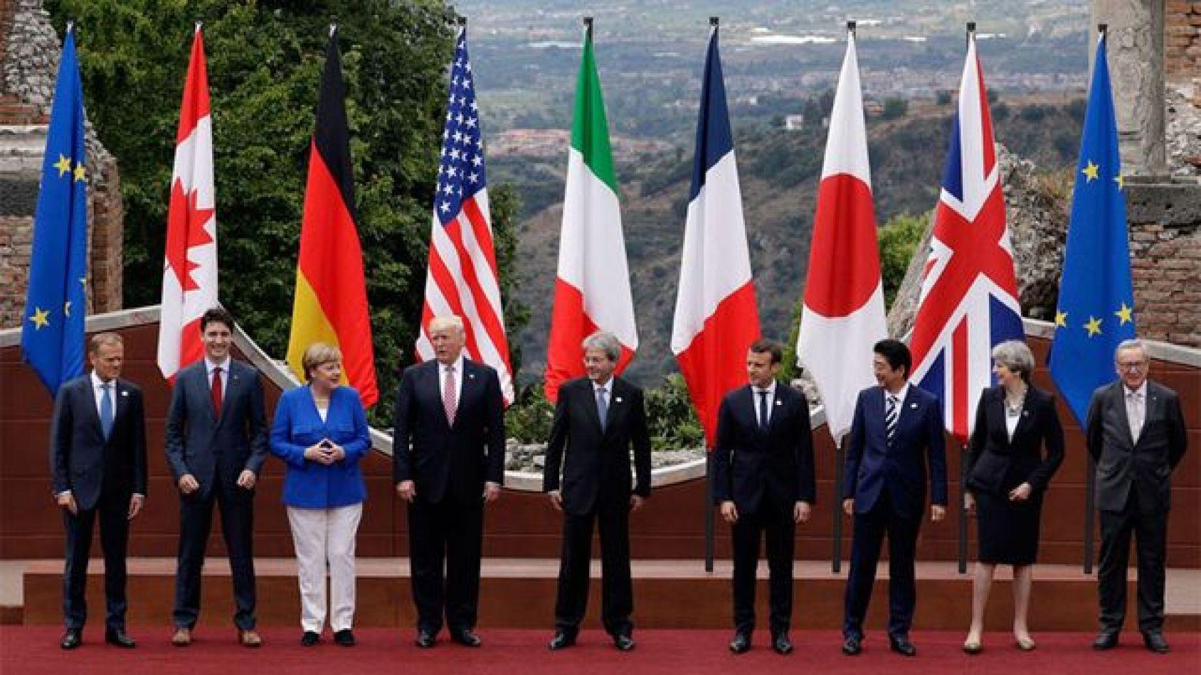 El Grupo de los Siete está integrado por Alemania, Canadá, Estados Unidos, Francia, Italia, Japón y Reino Unido.