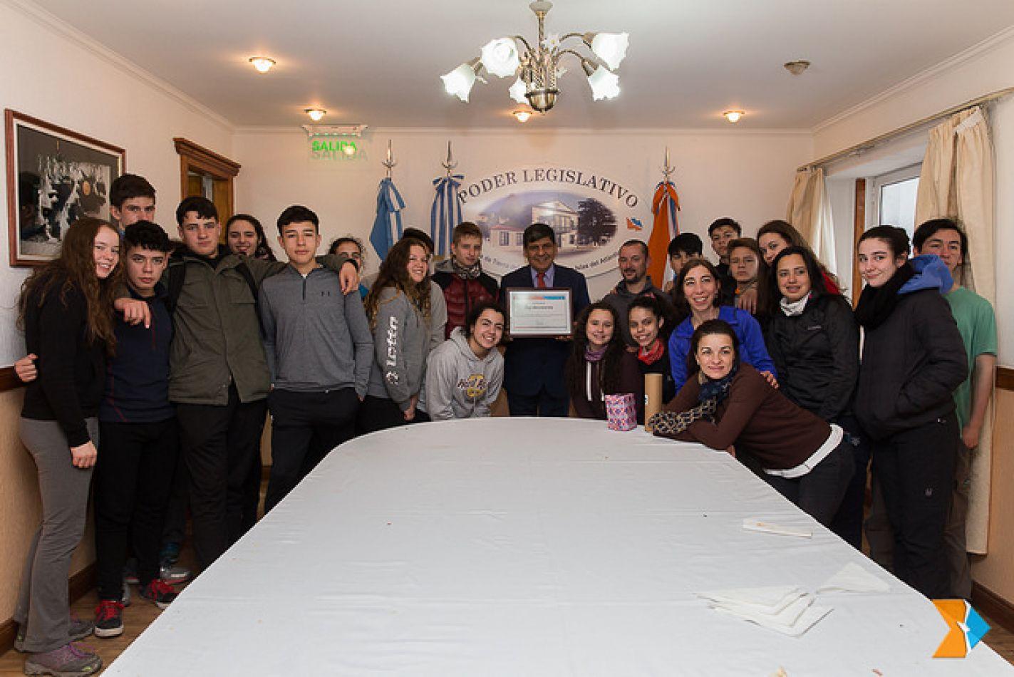 Estudiantes santacruceños visitaron la Presidencia