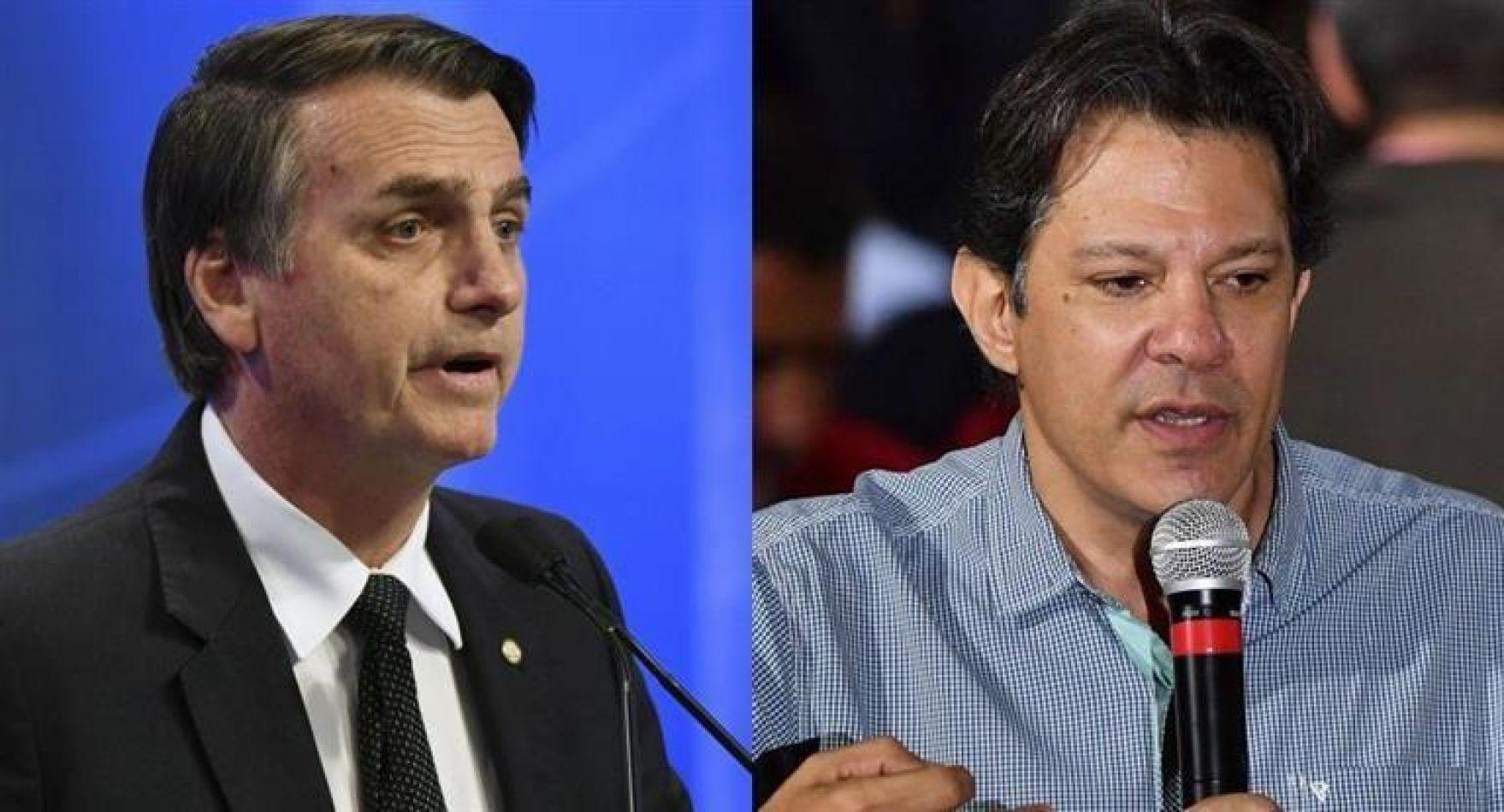 Bolsonaro ganó pero deberá ir a balotaje con Haddad