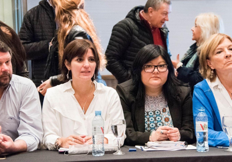 Las legisladoras del FpV/PJ, Angelina Carrasco y Marcela Gómez