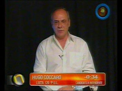 Hugo Cóccaro fue uno de los candidatos que se sumó al debate (Imagen: Canal 13).