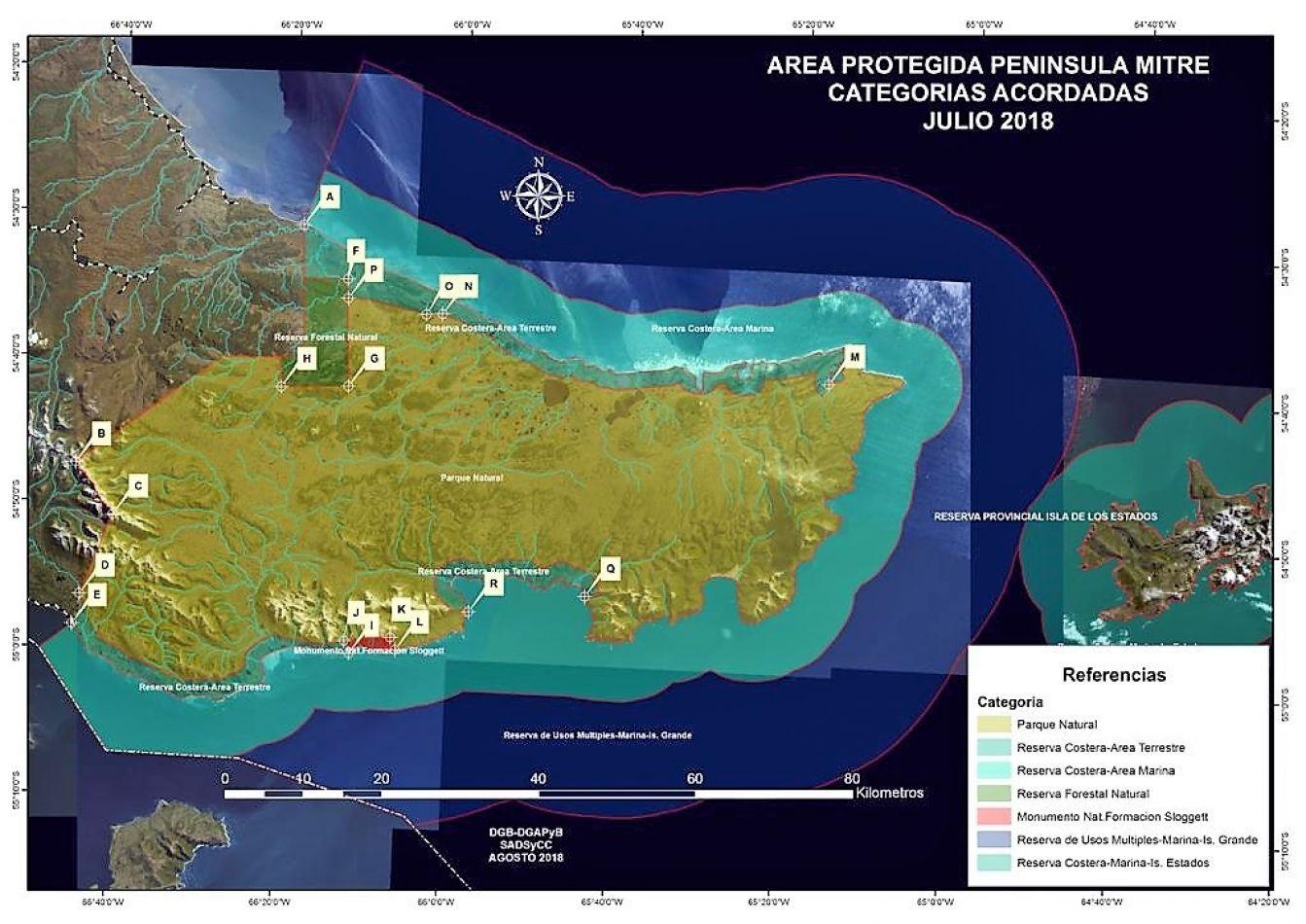 Crearán el parque provincial Península Mitre