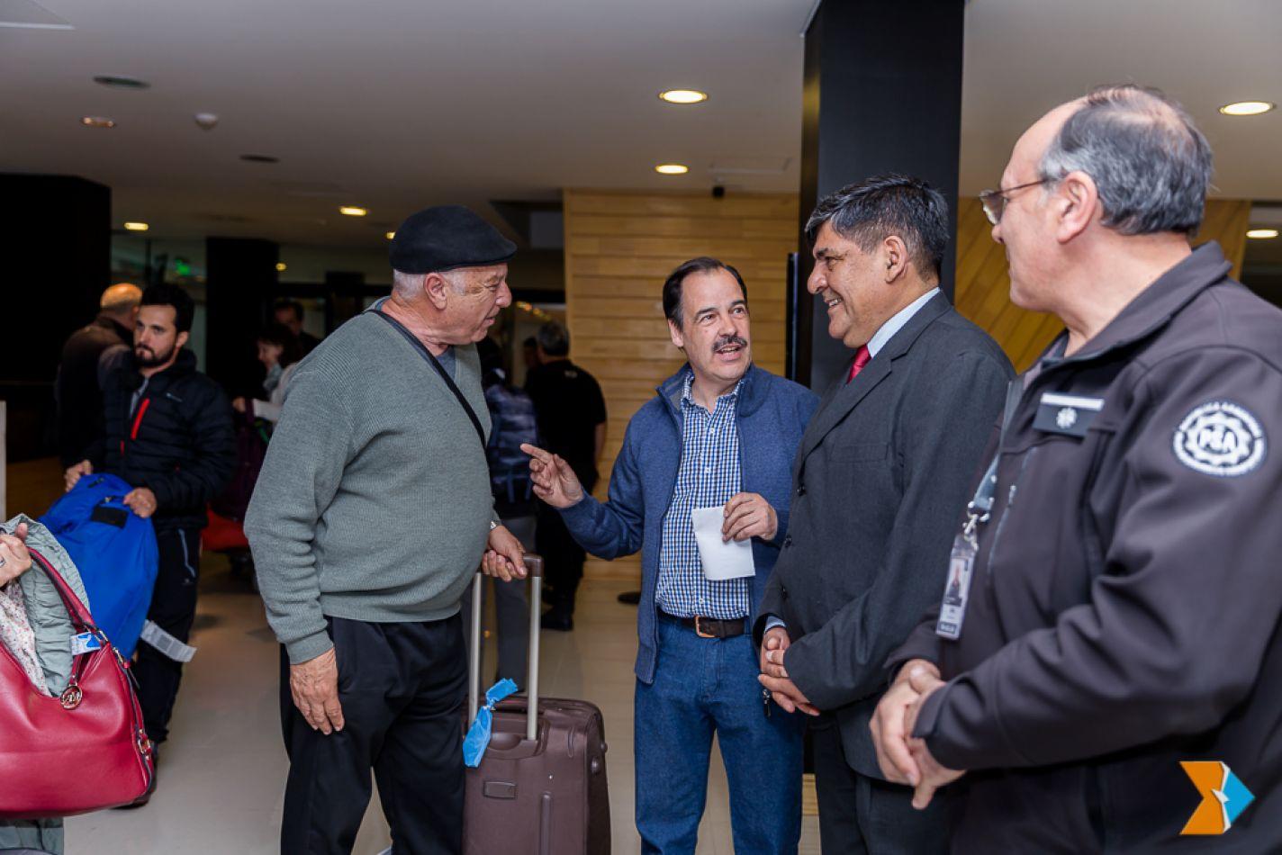 Juan Carlos Arcando, recibió, a Rubén Juan Fangio, hijo del quíntuple campeón del mundo de Formula 1