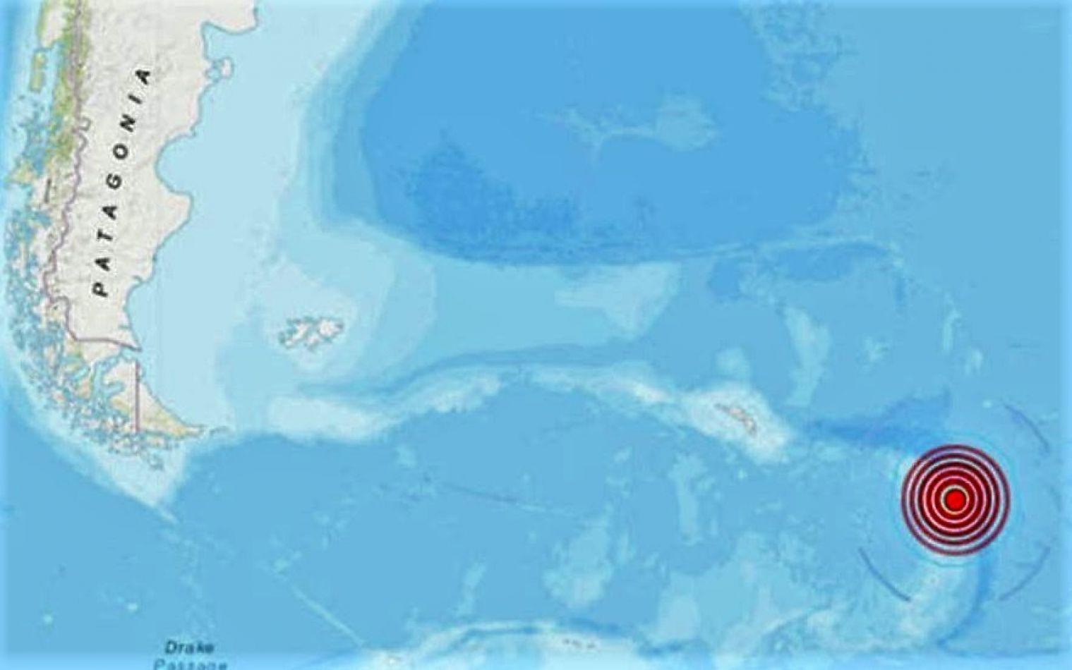 Sismo de 6.9 cerca del archipiélago de las Islas Malvinas