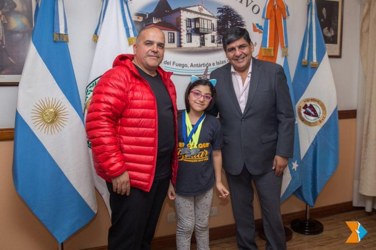 vicegobernador Juan Carlos Arcando recibió en su despacho a Morena y su papá Ricardo Córdoba