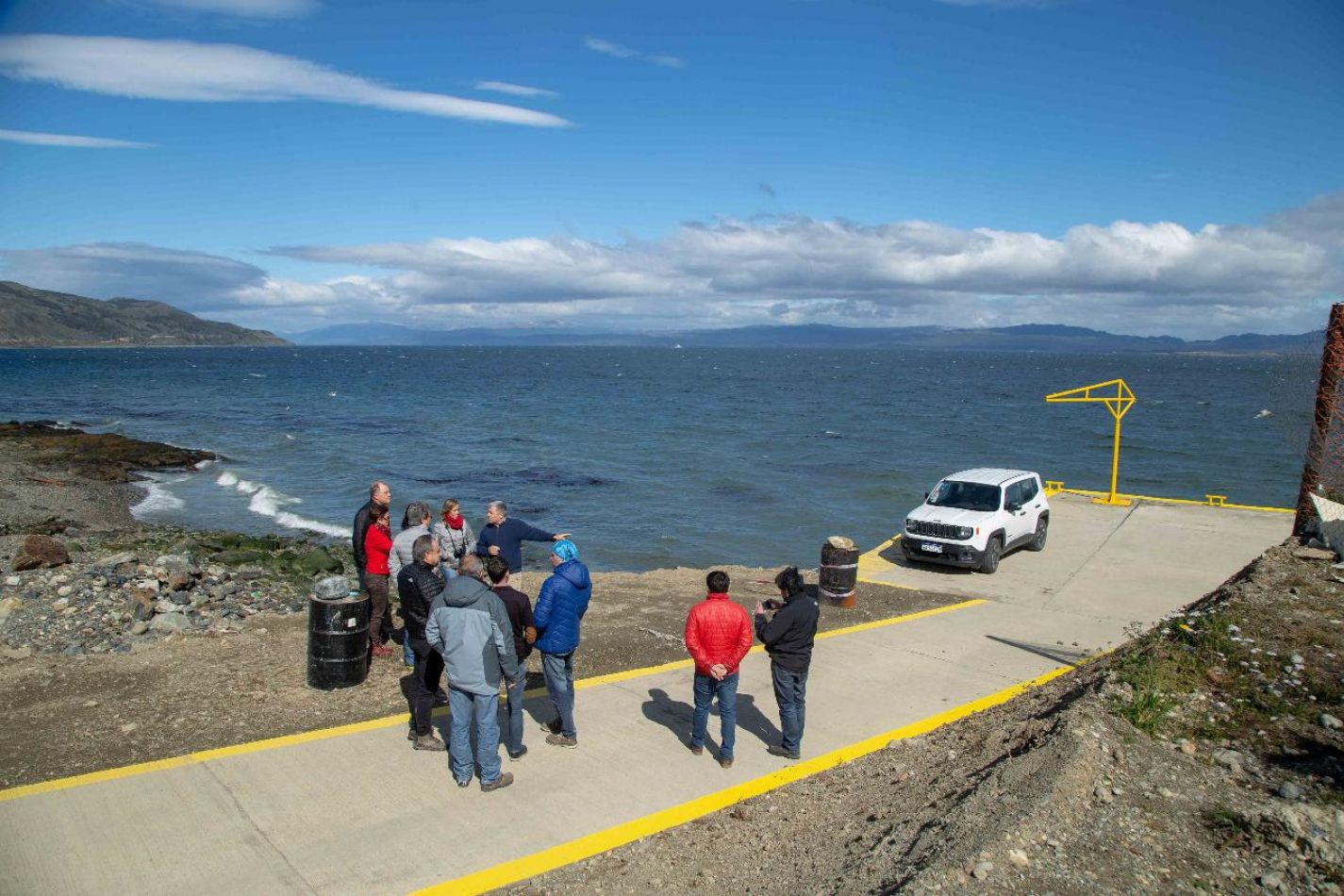 Obras de los muelles de Pescadores Artesanales de Ushuaia y Almanza