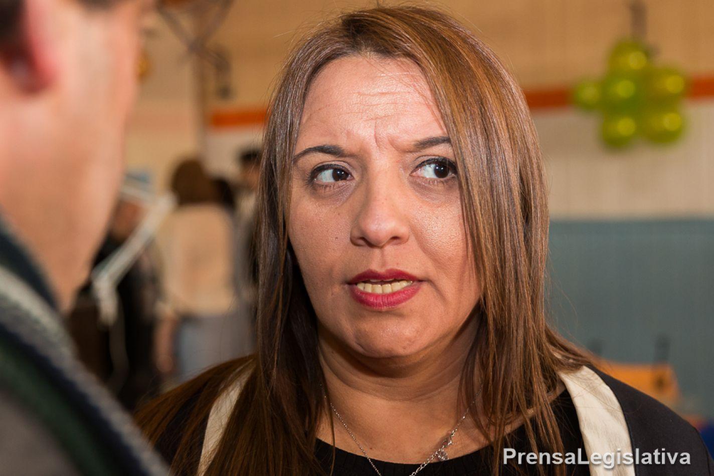 Andrea Freites, legisladora provincial.