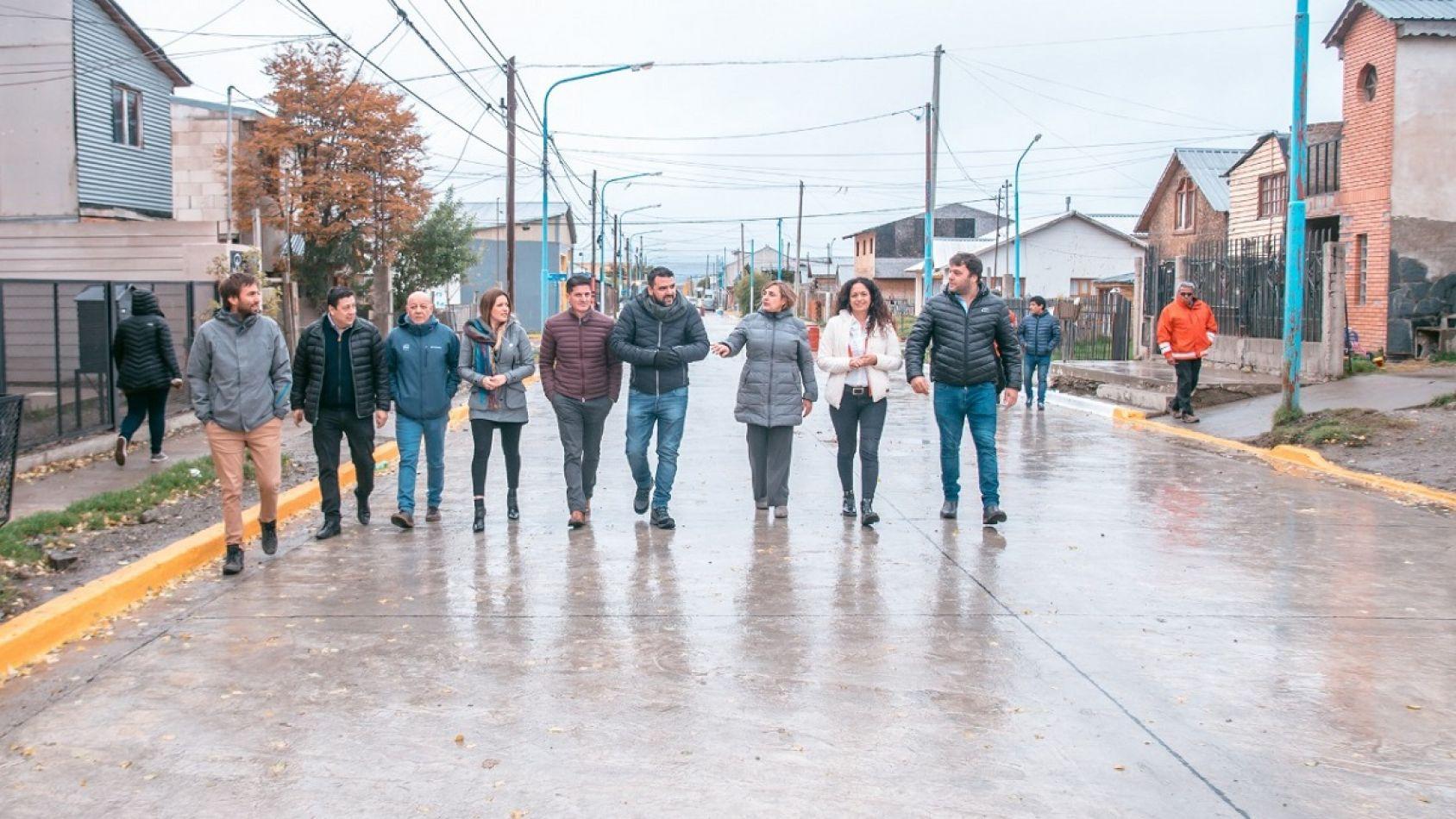 Habilitaron el tramo reparado de calle Fuegia Basket