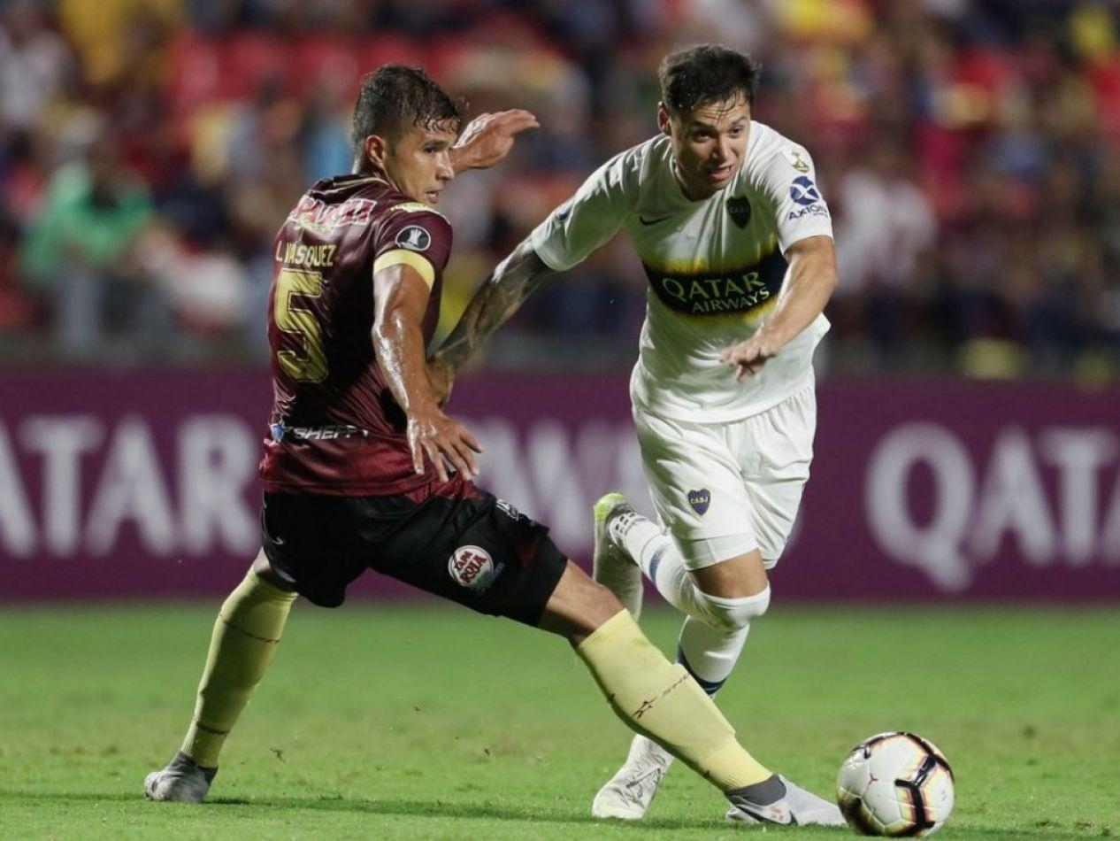 Boca empató con Deportes Tolima y puso un pie en octavos