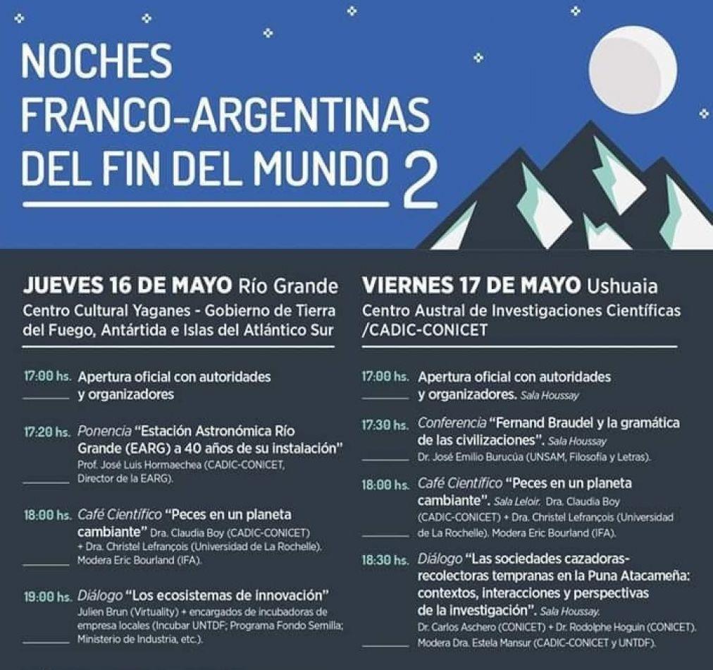 Se viene la II Edición de las noches Franco Argentina del Fín del Mundo