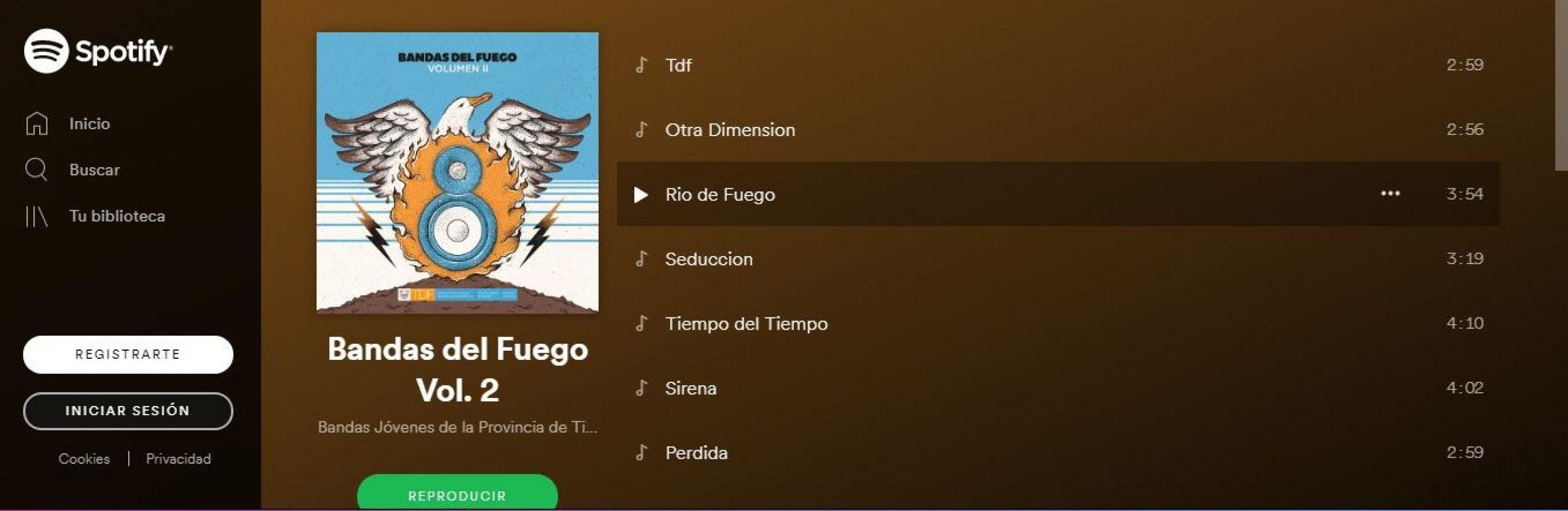 """El segundo disco """"Bandas de fuego"""", en spotify e itunes"""