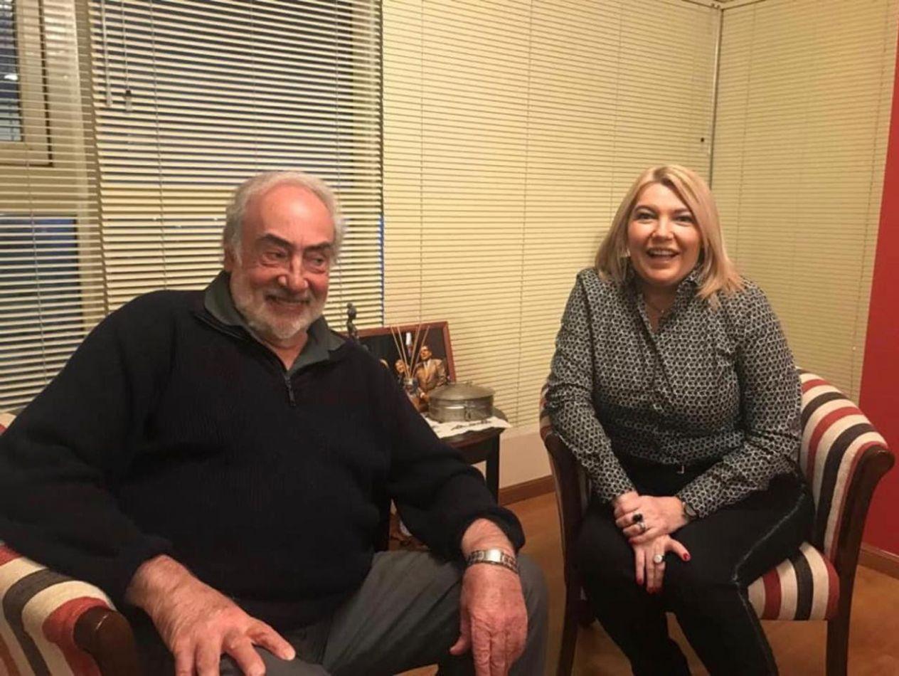 Prestigioso constitucionalista Eduardo Barcesat junto a Rosana Bertone