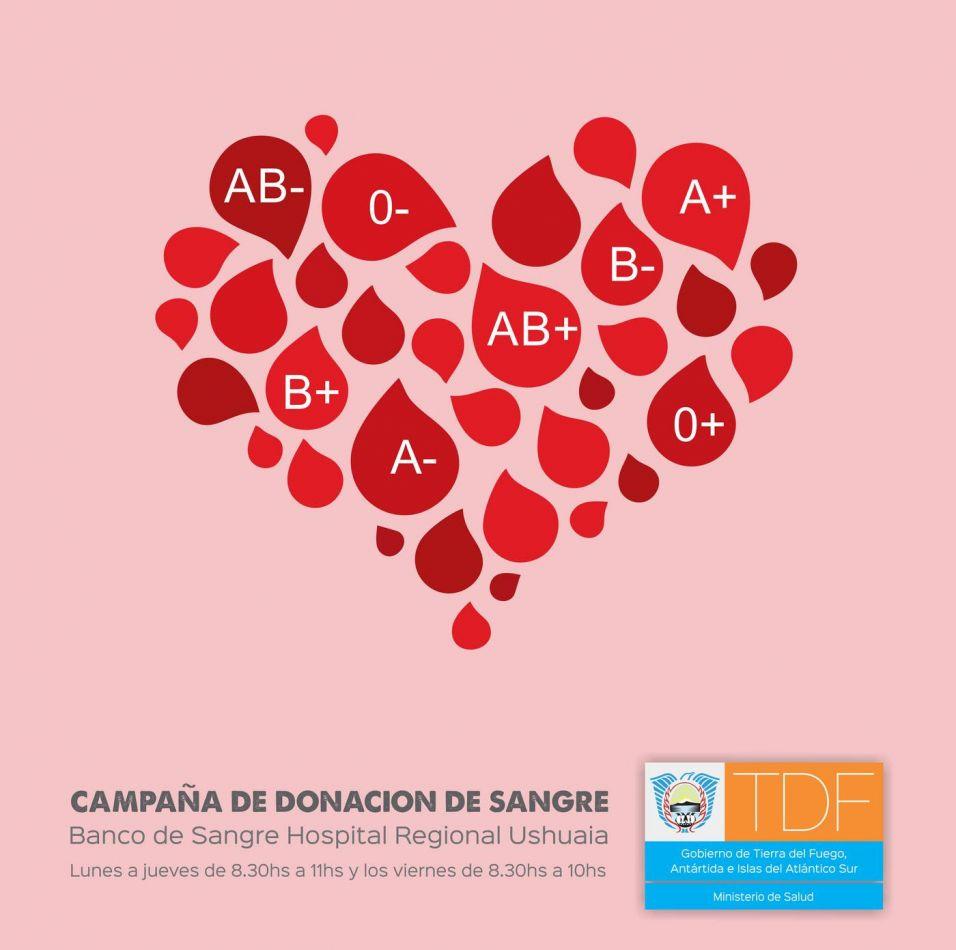 """El Hospital Regional de Ushuaia lanza nueva """"Campaña de Donación de Sangre"""""""