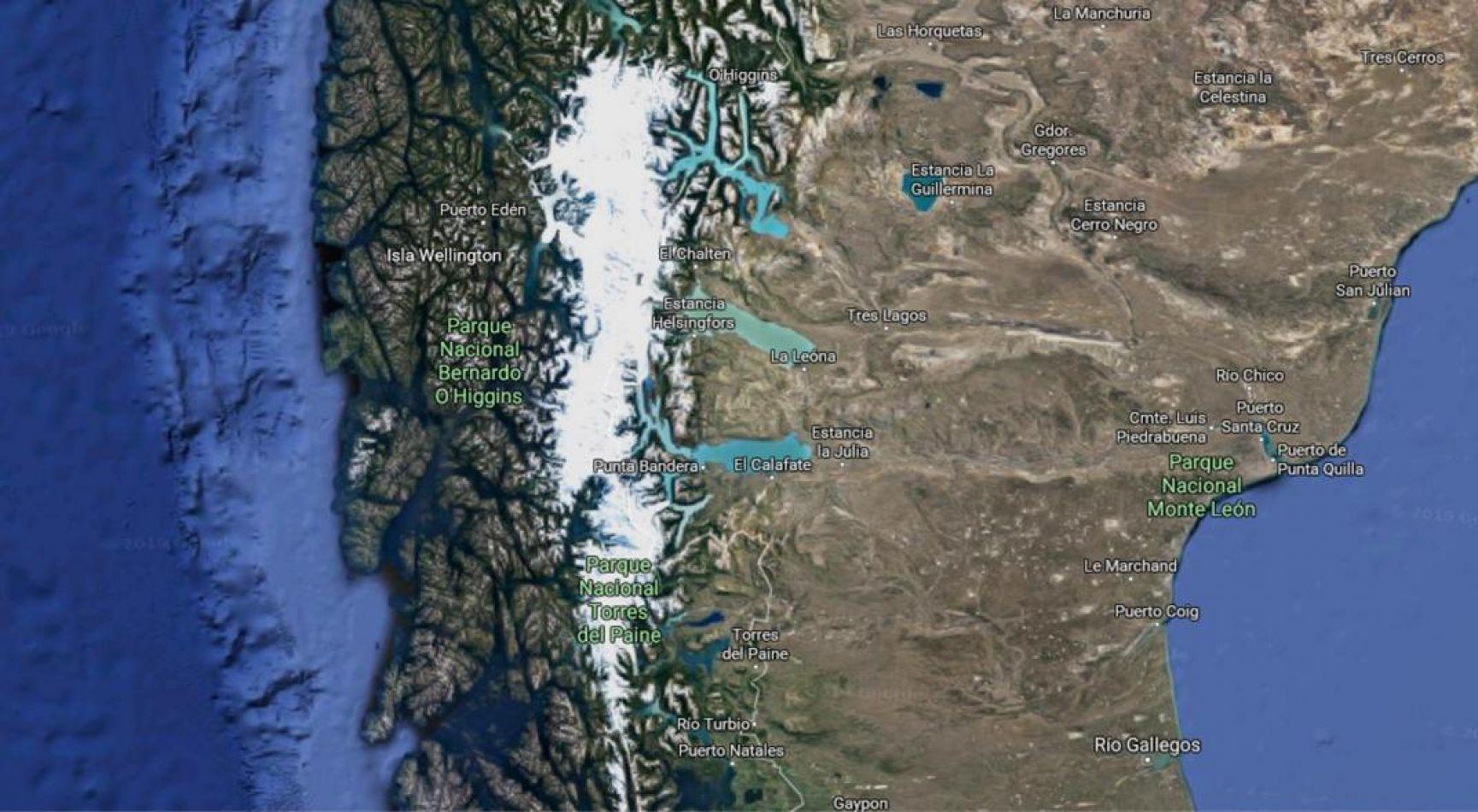 El hallazgo se realizó en un sobrevuelo que realizó personal de la Unidad de Glaciología y Nieves chilena