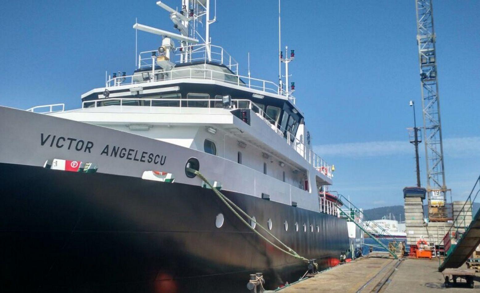 El buque oceanográfico Víctor Angelescus será la nave que transportará a los científicos.