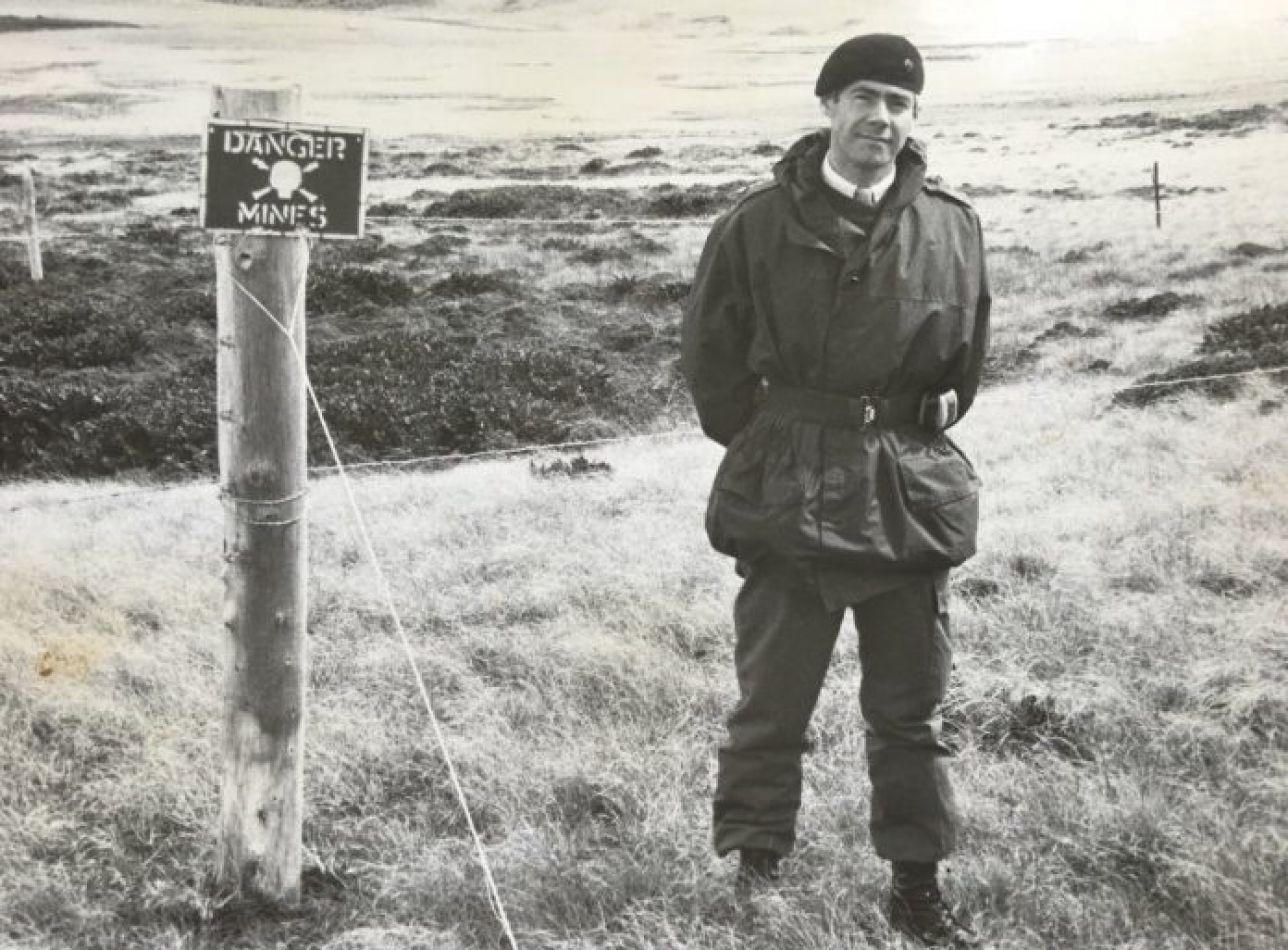 El militar inglés retirado Geoffrey Cardozo.