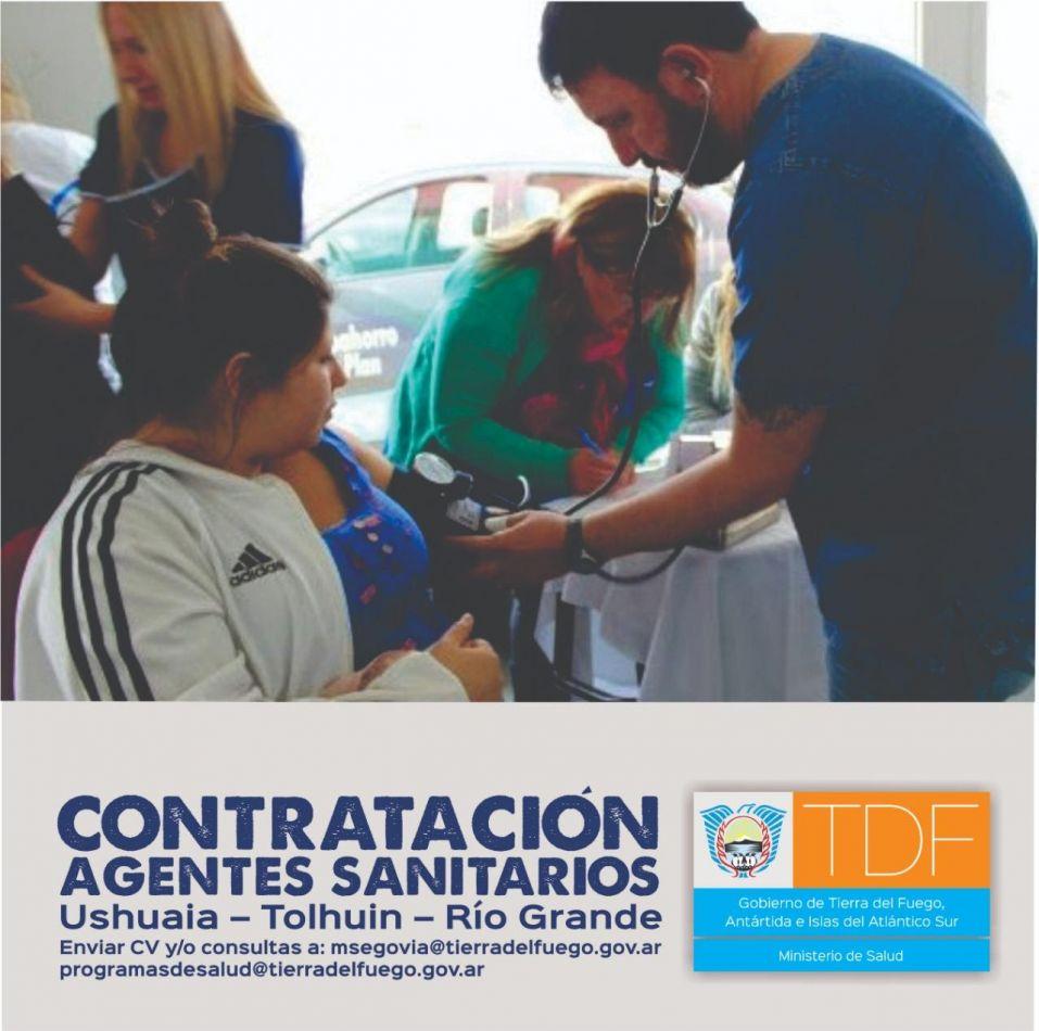 El Minisiterio de Salud contrata agentes sanitarios