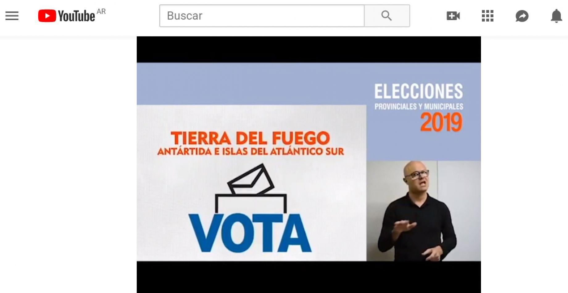 Los spots con guías para votantes hipoacúsicos, están publicados en You Tube.