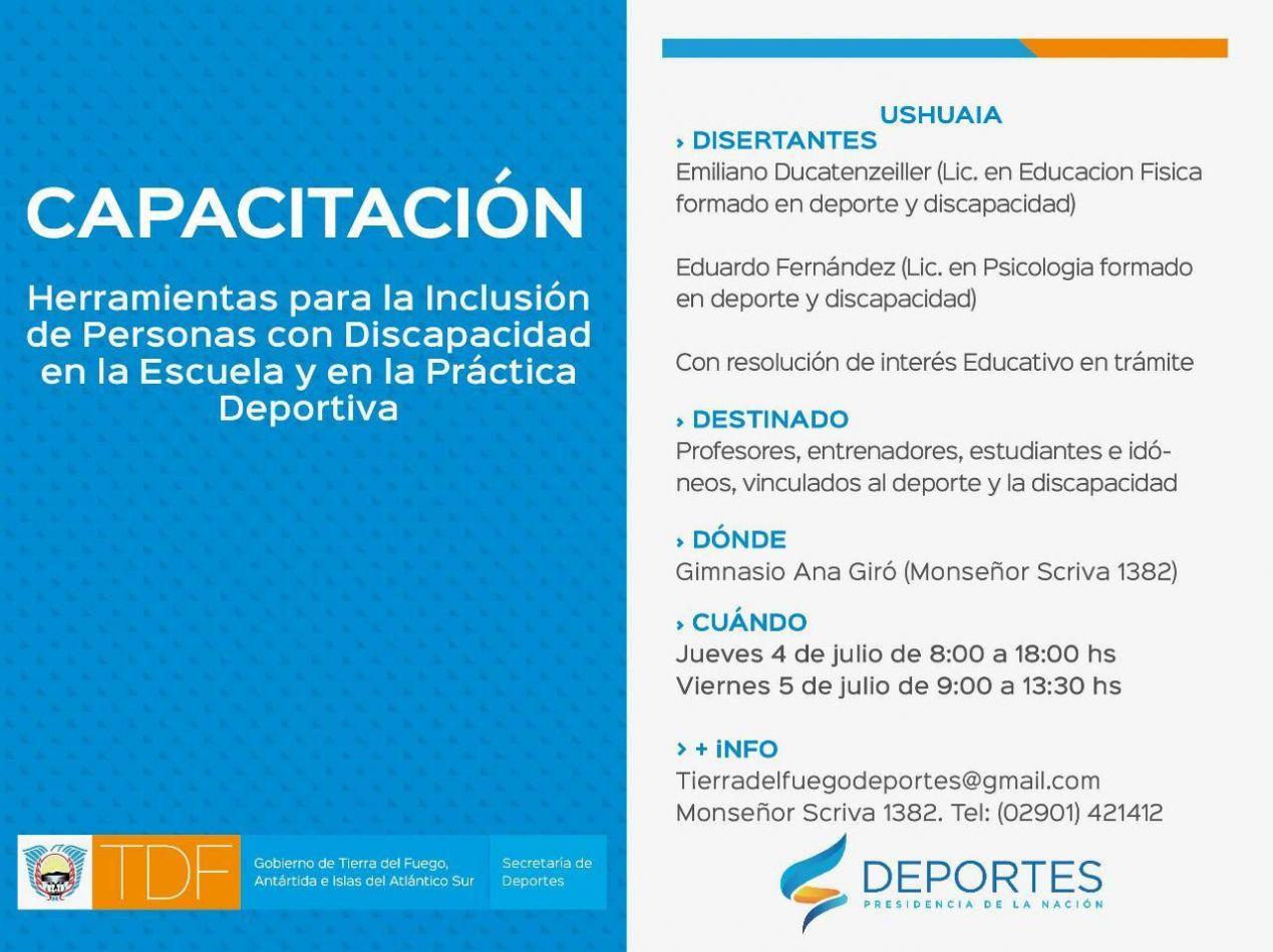 """Capacitación sobre """"Herramientas para la inclusión de personas con discapacidad"""