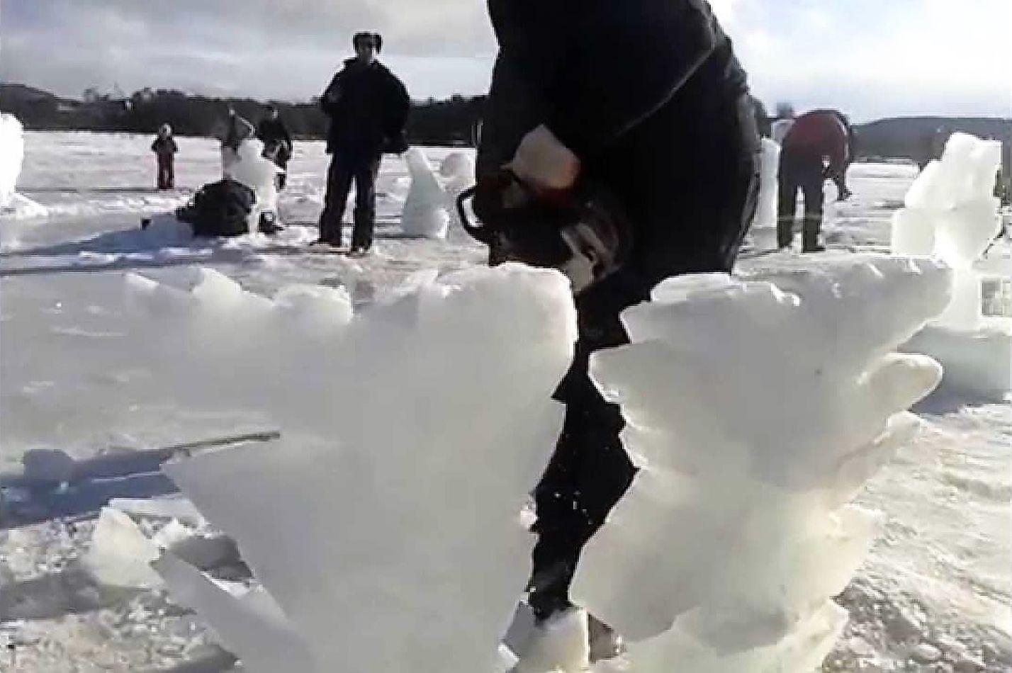 Se pospuso el encuentro de escultores de hielo.