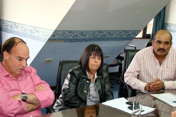 Blanco, Martínez Allende y Rodríguez, autores del proyecto.