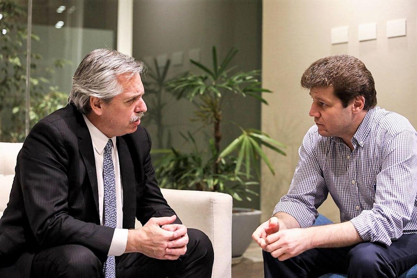 Gustavo Melella se reunió con Alberto Fernández
