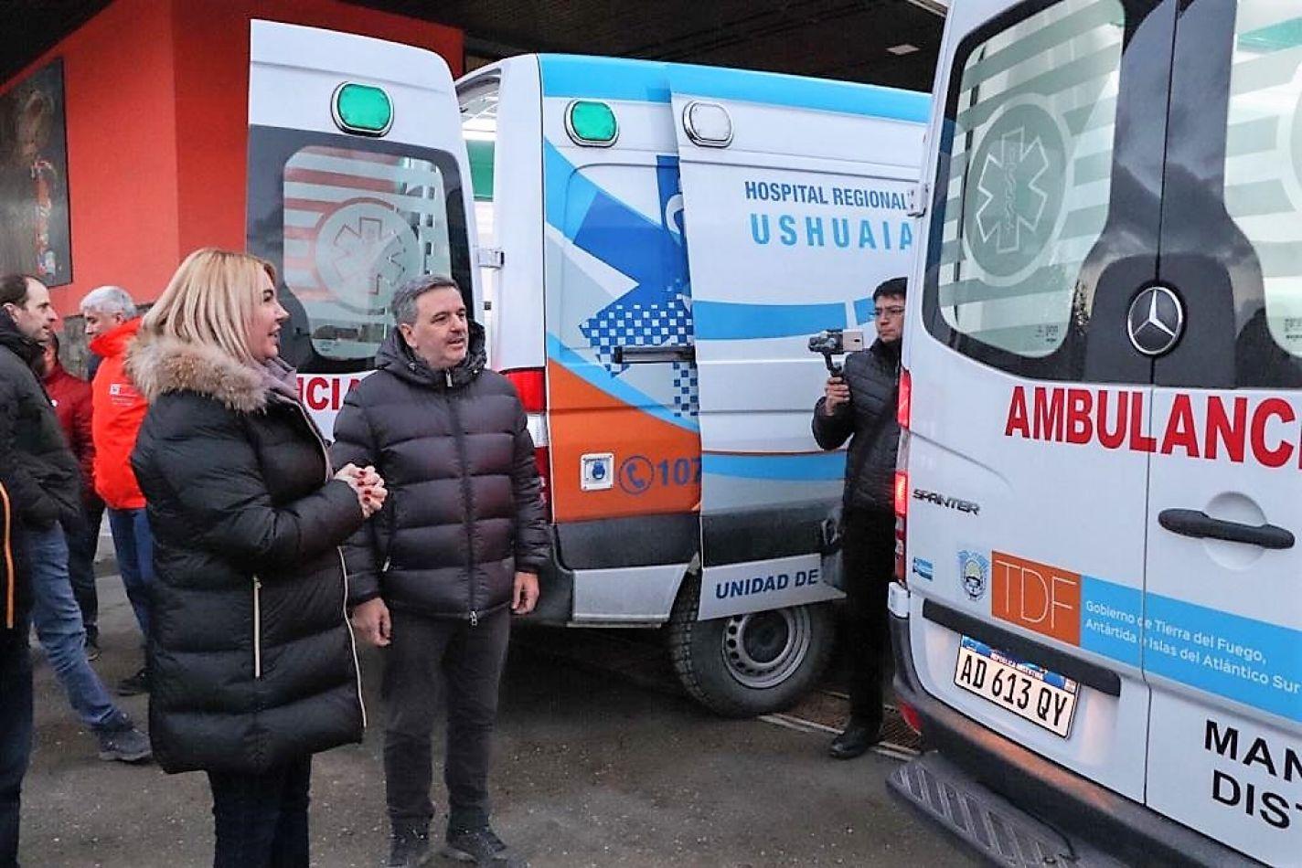 Más ambulancias para el sistema de salud fueguino
