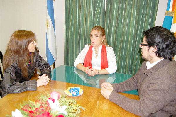 Boyadjian y Garay, durante la fructífera reunión con Agorreca.